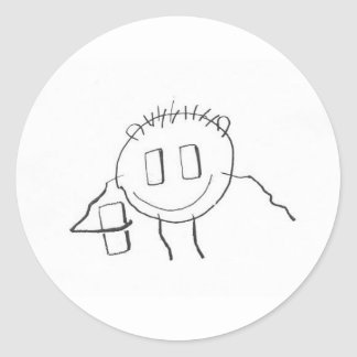 handyman classic round sticker