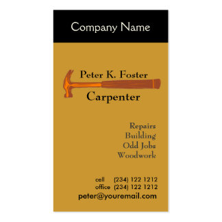 Handyman Construction Pack Of Standard Business Cards