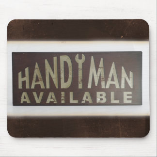 Handyman Construction Worker Sign Mouse Pad