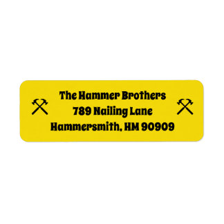Handyman Contractor Business Return Address Labels