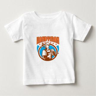 Handyman Cordless Drill Paint Roller Oval Retro Baby T-Shirt