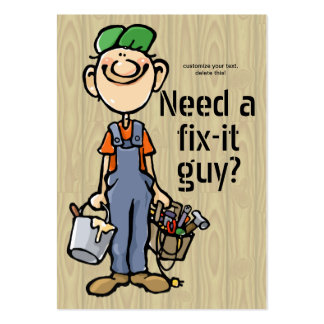 Handyman Fix-It Carpenter Painter Job Search Earn Pack Of Chubby Business Cards