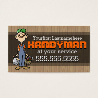 Handyman.Fix-It Man.Home repair.Custom text/color
