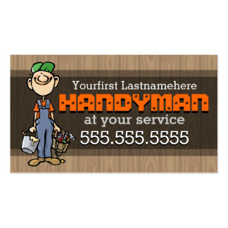 Handyman.Fix-It Man.Home repair.Custom text/color Business Card