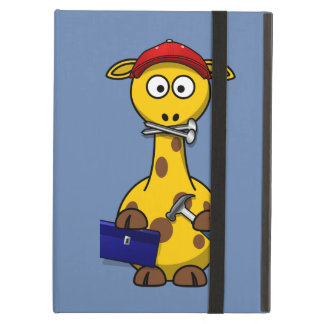 Handyman Giraffe Blue Background Case For iPad Air