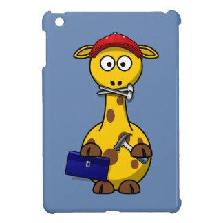 Handyman Giraffe Blue Background iPad Mini Covers