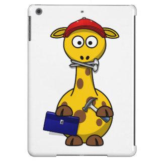 Handyman Giraffe Toon Art Cover For iPad Air