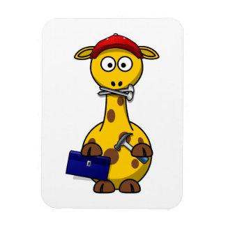 Handyman Giraffe Toon Art Flexible Magnet