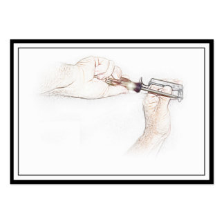 Handyman Hands with Screwdriver (Mr. Fix-it) Business Card Templates