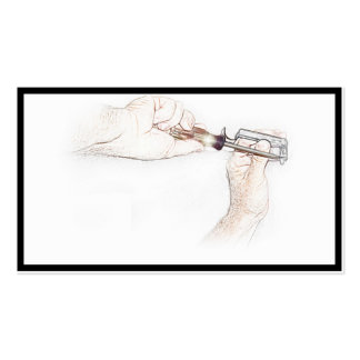 Handyman Hands with Screwdriver (Mr. Fix-it) Business Cards