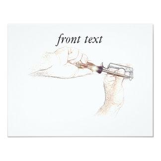 Handyman Hands with Screwdriver (Mr. Fix-it) 11 Cm X 14 Cm Invitation Card