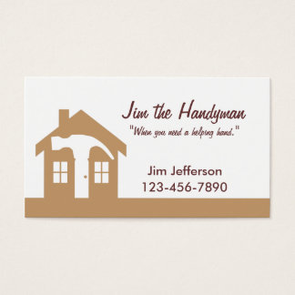 Handyman/Home Repair/ Brown Business Card