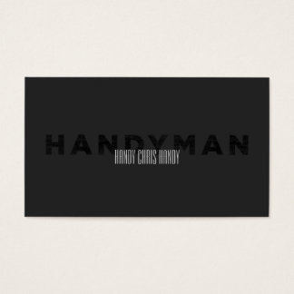 Handyman [Letterpress Style] Business Card