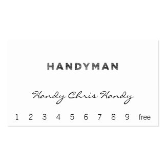 Handyman [Letterpress Style] Pack Of Standard Business Cards