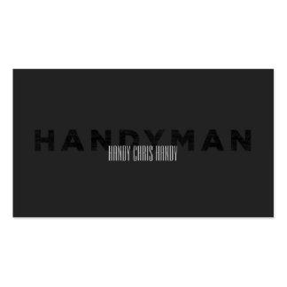 Handyman [Letterpress Style] Pack Of Standard Business Cards