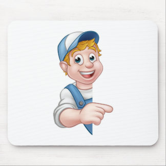 Handyman Mechanic Plumber Gardener Decorator Mouse Pad