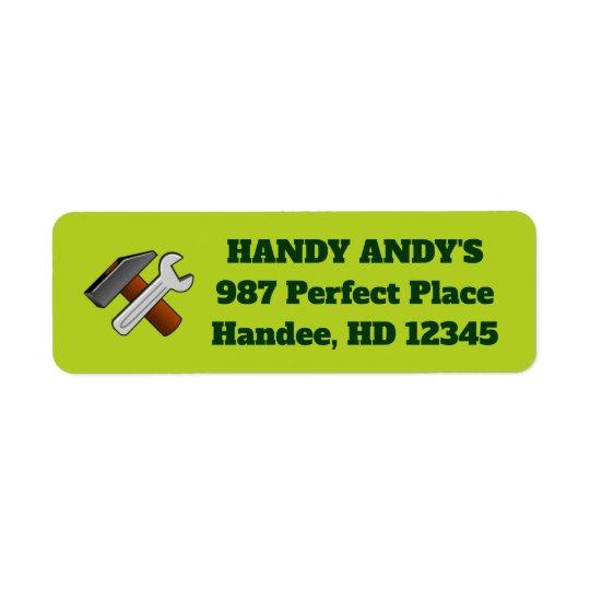 Handyman Mr. Fix-It Business Return Address Labels