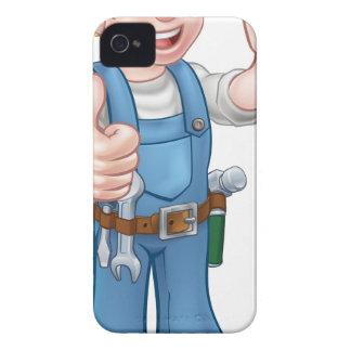 Handyman Painter Decorator Holding Paintbrush Case-Mate iPhone 4 Case