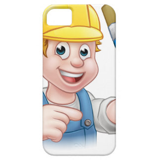 Handyman Painter Decorator With Paintbrush iPhone 5 Cases