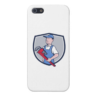 Handyman Pipe Wrench Crest Cartoon Cover For iPhone 5/5S