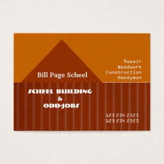 Handyman Remodeling Contractors Business Card