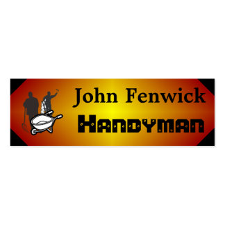 Handyman Service Red Business Card Templates