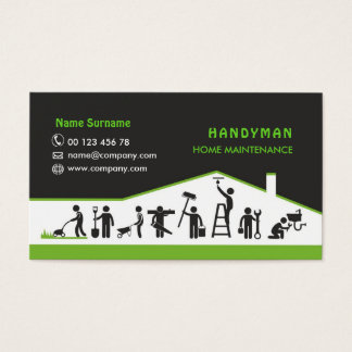 Handyman services, home maintenance business card