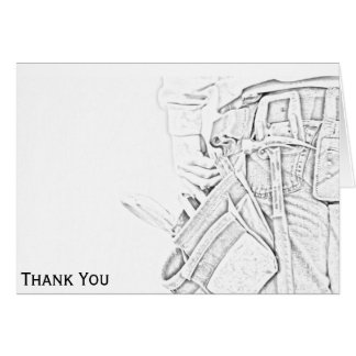 Handyman Sketch in Black and White Business Card