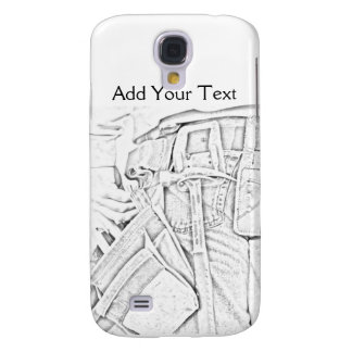 Handyman Sketch in Black and White Business Galaxy S4 Cases