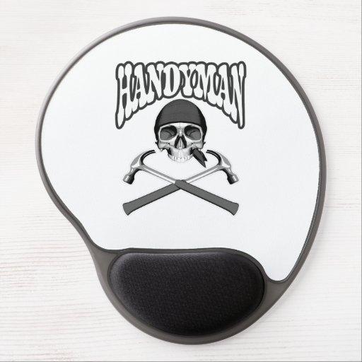 Handyman Skull Hammers Gel Mousepad