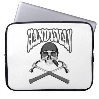 Handyman Skull Hammers Computer Sleeve