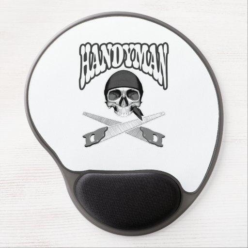 Handyman Skull Handsaws Gel Mouse Mats