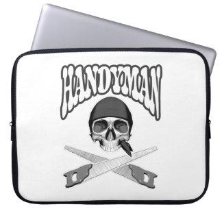 Handyman Skull Handsaws Laptop Sleeve