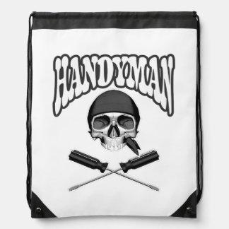 Handyman Skull Screwdrivers Drawstring Bags