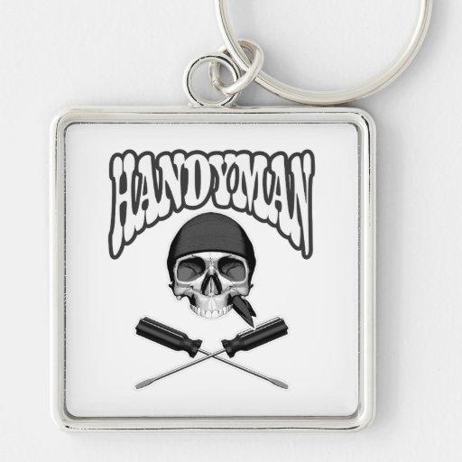 Handyman Skull Screwdrivers Key Chain