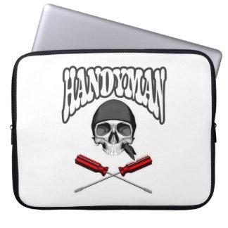 Handyman Skull Screwdrivers Laptop Computer Sleeves