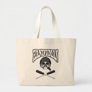 Handyman Skull Screwdrivers Large Tote Bag