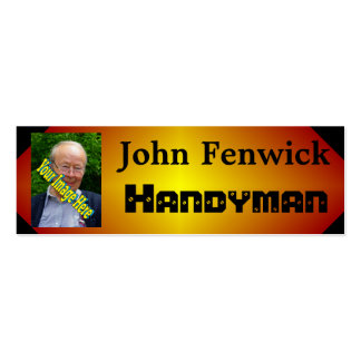 Handyman Template Pack Of Skinny Business Cards