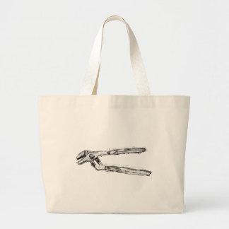 Handyman Tool Pliers Large Tote Bag