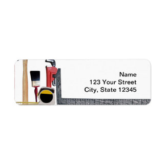 Handyman Tools Return Address Label