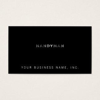 Handyman [White Letterpress Style] Business Card