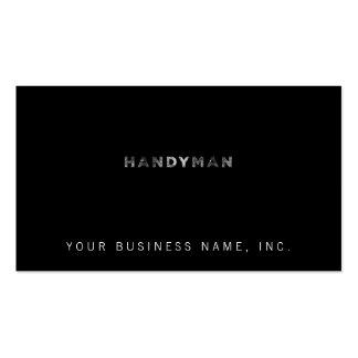 Handyman [White Letterpress Style] Pack Of Standard Business Cards