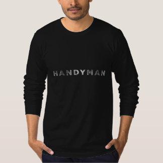 Handyman [White Letterpress Style] T-Shirt