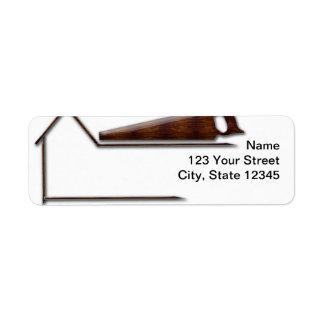 Handyman Wood Saw Business Return Address Label