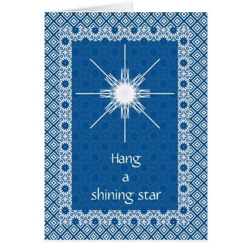 Hang a shining star greeting card