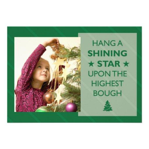 Hang a Shining Star Holiday Photocard Invite