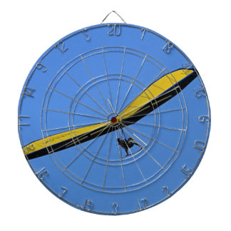 Hang glider in the sky dartboard