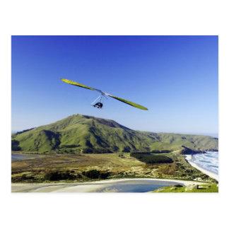 Hang Glider, Otago Peninsula, near Dunedin, Postcard