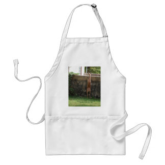 hang in there deer adult apron