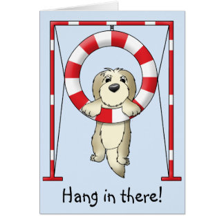 Hang in There Dog Agility Card
